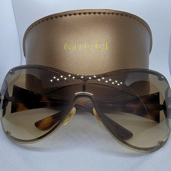 GUCCI GG2802/S OVC2K Havana Shield Sunglasses